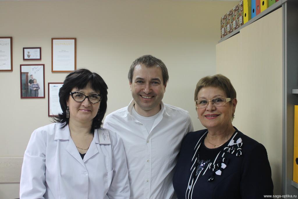 Салон-магазин «САГА-ОПТИКА» посетил известный в оптической отрасли профессор А.В. Мягков